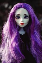 Violet (Klio.13) Tags: monster toys outdoors high dolls ooak spectra custom mattel customdolls dollphotography toyphotography monsterhigh spectravondergeist 13wishes
