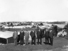 Bridge Board inspection of the site of north anchor pier, Brisbane, 27 June 1934 (Queensland State Archives) Tags: nonstory bridge brisbane queensland qsa archive construction history heritage australia 1930s