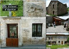 Le Villeret d'Apchier (brigeham34) Tags: france village faades maisons rando eu campagne sculptures auvergne hauteloire gr65 viapodiensis cheminsdecompostelle levilleretdapchier fz45 saugueslesauvage