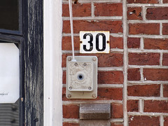 Week 30 (d_t_vos) Tags: 30 thirty number week weeks calendar numericcharacter character address streetnumber housenumber weeknumber symbol sign shield weeknumberproject 2016 bricks stone door doorframe window windowframe architecture abstract texture text outdoor leeuwarden netherlands windlass winch windgear lyre cable wire dtvos dickvos 30frame
