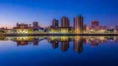 La Boca (karinavera) Tags: city longexposure travel sunset sky urban reflection water argentina buenosaires cityscape laboca caminito nikond5300