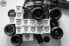Vintage: film is not deat (Stefano Stanga) Tags: vintage vintagelens nikon nikonphotographers italia blackandwhite lens f3 ilford negative film films