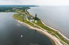 Kahe vee vahel (BlizzardFoto) Tags: srve srvesr sre majakas lighthouse srvemajakas poolsaar peninsula sea meri water vesi aerofoto aerialphotography