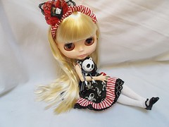 Bella &  Jack (Belladona Blythe and Friends) Tags: blythe handmadeclothes handmade buttons gothlolita jackdoll