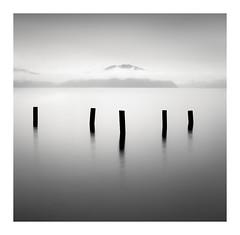 five posts (StephenCairns) Tags: lakebiwa november winter misty mist lake autumn fall mood serene quiet calm japan shiga shigaprefecture
