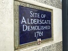 Site of Aldersgate (Matt From London) Tags: aldersgate plaque citygate 1761