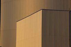 Objective Geometry (mikkelfrimerrasmussen) Tags: cylinder cube arc amager ressource center bakke golden light metal building relief