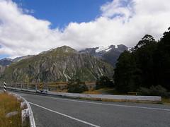 One lane bridge (billpolley) Tags: newzealand clouds onelanebridge terminalmoraine aorakivalley