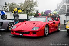 Ferrari F40 (Rob Schaverien) Tags: ferrari goodwood supercars f40 breakfastclub