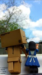 A moment shared is never wasted (karmenbizet73) Tags: sky art clouds toys photography flickr toystory moment shared aliceinwonderland photooftheday eyespy danbo goaskalice cloudwatching americanmcgee 99365 danboard neverwasted danbolove toysunderthebed 2015365photos