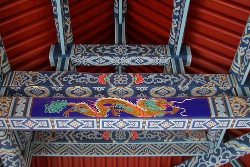 Hall of Heavenly Kings (天王殿, tiānwáng diàn) internal structure