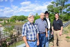 NRCS Chief Jason Weller (far right) touring acequias in New Mexico (USDAgov) Tags: california newmexico water mississippi colorado conservation maryland irrigation waterquality tomvilsack nrcs chesapeakebaywatershed jasonweller regionalconservationpartnershipprogram modernusda