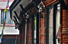 Sculpted Windows - 刻まれ (Hana Samurai) Tags: wood nepal windows sculpture brick architecture lights kathmandu lantern 木 窓 thamel thanka ネパール カトマンズ タンカ タメール