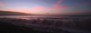 Waves after Sundown Pano.