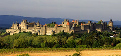 Arribant a Carcassona / Arriving at Carcassonne (SBA73) Tags: old city panorama france castle beautiful spectacular vineyard view zoom cité towers frança sigma location medieval unesco autopista vista walls autoroute oc aude fortress francia middleages robinhood carcassonne castillo languedoc mirador carcassona chateaux worldheritage torres ciutat vinya castell vespre murallas patrimoni muralles occitania violetleduc fortalesa humanitat 卡尔卡松 edatmitjana 150500mm trencavel カルカソンヌ каркасон