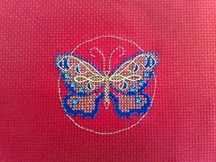 another photo of the butterfly (Original design - freebie : Janelle Giese for Kreinik) (therose17) Tags: japan golden embroidery janelle threads realisation freebie kreinik giese modiefied