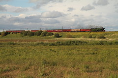 60103 (Rob390029) Tags: county travel green field grass train landscape coast flying coach track br durham maroon transport tracks rail loco class steam east transportation rails land a3 british locomotive bradbury traveling coaches scotsman mainline ecml 60103