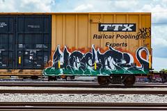 (o texano) Tags: houston texas graffiti trains freights bench benching hoser