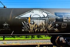 SOAK.. FRANK THE TANK  8-14 (PurplePerpetrator) Tags: art photography trains tags soak aerosol tankers benching freighttraingraffiti spraybombing trainwriters photograffaddict
