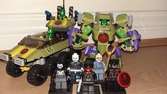 Hail Hydra! (kole.fitch) Tags: lego marvel aim hydra modok red skyll captain crossbones tank mech