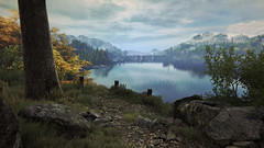 Vanishing of Ethan Carter 06 (hyperlost47) Tags: wood lake tree water grass leaves rock forest screenshot woods rocks branch path eerie ethan gaming carter vanishing pcgaming pcmasterrace