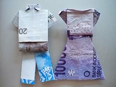 Batik Clothing in rupiah fabric ('Barnaby') Tags: indonesianrupiah idr origami barnabyrobson em5 omd pants dress shirt aml wwwbarnabyrobsonorg troussers jakarta indonesia bankindonesia oragami