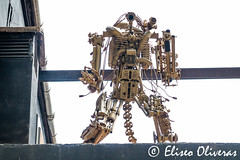 The rebellion of the machines (Eliseo Oliveras) Tags: eliseooliveras eliseooliveras barcelona catalonia spain robot machine scifi sciencefiction future rebellion poblenou fantasy dystopia urban city street people espaa espagne espanya catalunya catalogne catalua barcelone