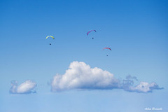 Daydream _ (acbrennecke) Tags: achimbrennecke gleitschirm action sky clouds colors nikon5500 nikon three outdoor flight paraglider