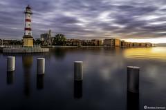 Sunset Malmoe (AndreasNikon) Tags: sunset sea summer sky lighthouse architecture sweden himmel nocrop malm solnedgng longexposer bildings ncg malme 1424 nohdr seaskape nikond600 skanecounty
