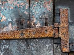 Rusty Hinge (Ian_Matthews) Tags: historicbuildings redhouse door hinge rust