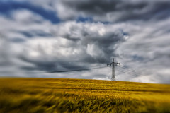 Tower of Boonies (Claudia G. Kukulka) Tags: transmissiontower strommast transmission tower clouds wolken field feld country land rural lndlich landscape landschaft