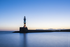 Chania old town port, Crete. Long exposure at dawn. (sfrancis23) Tags: travel crete chania port lighthouse dawn sunrise blue sea seascape landscape longexposure harbour nikon d810 colour jetty historic old town greece 1424mm lee sw150 bigstopper filter brilliant