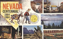 Nevada Centennial (The Cardboard America Archives) Tags: centennial nevada 1964 vintage postcard