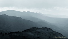 Heavy Rain At Lookout Mountain (spanjavan) Tags: rain mountainrange hazy clouds windy evening