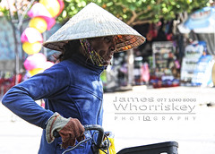 Vietnamese Woman ! (James Whorriskey (Delbert Jackson)) Tags: jameswhorriskey jameswhoriskey delbertjackson derry londonderry uk ulster ireland northernireland photo photograph photographer picture aroundus impressionsexpressions catchycolors jameswhorriskeyphotography colour art print asia hochiminh city saigon vietnam busy outdoor motorcycles mopeds people road central woman hat hoian