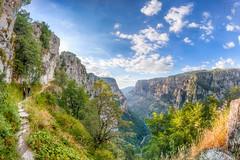 hiking @Vikos Gorge (LB-fotos) Tags: 8mm berge canyon gr greece greek griechenland landscape landschaft mountains natur nature vikosschlucht wanderweg fisheye hellas hike hiking wandern hdr gorge