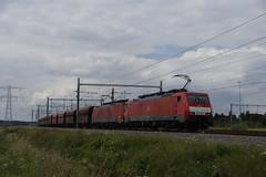 DB Cargo 189 082-1 + 189 044-1 met ertstrein over de Betuweroute bij Valburg richting Emmerich 31-07-2016 (marcelwijers) Tags: db cargo 189 0821 0441 met ertstrein over de betuweroute bij valburg richting emmerich 31072016 044 082 deutsche bahn