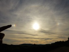 Touching the Halo..x (lisa@lethen) Tags: cirrus cloud sun sundog parhelion weather summer nature