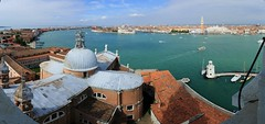 眺望水都  ~  Panoramic view  of Venice  from  Basilica di San Giorgio Maggiore  @ Venezia  威尼斯~ (PS兔~兔兔兔~) Tags: city travel cruise venice sea vacation blackandwhite bw holiday streets tourism church monument museum architecture vintage river boats island boot boat canal hall ancient bravo scenery europe gallery cityscape tour squares basilica religion salute sightseeing bridges churches floating courtyard lagoon tourist calm tourists worldheritagesite trips gondola haunting bluehour palazzo oldtown historia boatman cultural sanmarco canale visite vecchio traveler waterbus oldpalace 義大利 gondole veneto 威尼斯 watercity basilicadisantamariadellasalute 運河 riverport orizontal 世界文化遺產 villevenete 水都 sangiorgiomaggiorechurch saintgiorgiomaggiore