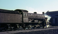 63431 at Hull shed.  February 1967 (Brit 70013 fan) Tags: br yorkshire shed steam depot british hull railways steamengine mpd britishrailways 53a q6 50b 63431 dairycoates exlner