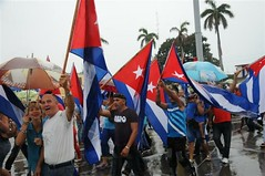 Sancti Spiritus Residents Marched to Mark Day Parade (Escambray Today) Tags: cuba mayday sanctispiritus 1stofmay tradeunions mayay workersday