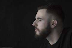 Jon (Andrea Gambadoro) Tags: bear light portrait black beard photography jon looking bears beards forward dodd
