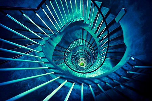 Spiral staircase by aotaro, on Flickr