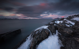 ullsfjord at dusk