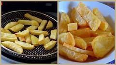 French fries - crisp and chunky (Sandy Austin) Tags: newzealand food collage potatoes frenchfries auckland northisland fried potatochips massey westauckland sandyaustin airfryer panasoniclumixdmcfz40 airoven