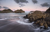Twilight at Whatipu (JoshyWindsor) Tags: longexposure camping sunset newzealand beach landscape twilight scenic northisland westcoast waterflow whatipu canonef1740mmf4l manukauheads canoneos6d