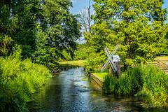 Kent mini windmill (grahamvphoto) Tags: trees england green english nature water windmill river landscape kent