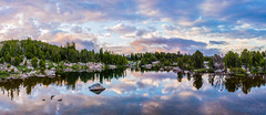 Bear Tooth Sunrise 1.4 (Jack Lefor) Tags: sky panorama lake nature water clouds sunrise reflections landscape nikon rocks colorful pastel fineart scenic peaceful panoramic serene wyoming nikond810
