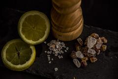 Three Opposites II (Tria-media_Sven) Tags: macromondays opposites salt sugar lemon sour salty sweet