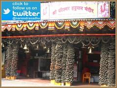 Shree Ghanteshwar Hanuman Mandir (NarendraSadhuOfficial) Tags: mumbai maharashtra bajrangbalistatues